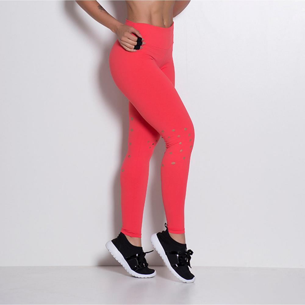Calça Fitness Corte Laser Bolinhas LG321